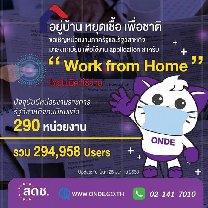 ดีอีเอส ชวนหน่วยงานรัฐ ลงทะเบียนขอใช้บริการแพลตฟอร์ม Work from Home